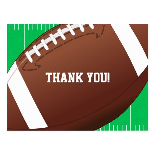 Football Sports Birthday Thank You Postcard Zazzle Com