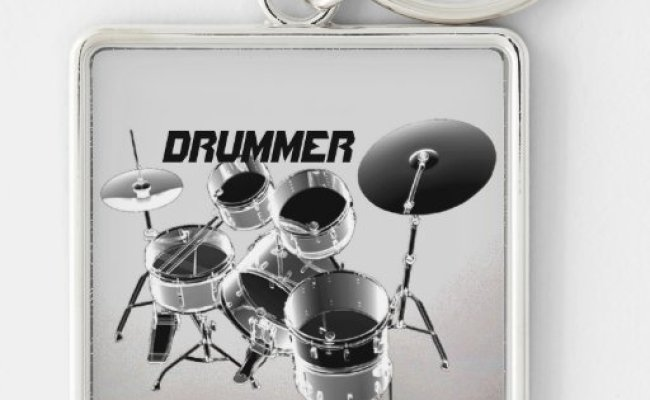 For Drummers Personalized Gift Keychain Zazzle