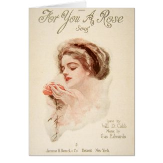 For You A Rose Greeting Card