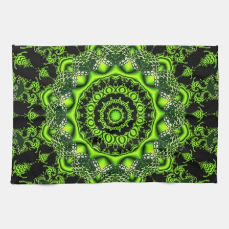 Forest Dome, Abstract Meadow in Woods Hand Towel
