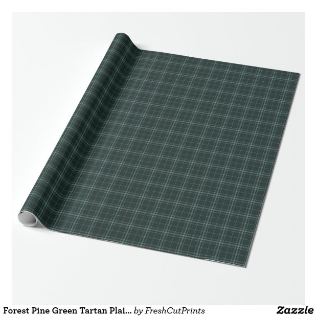 Forest Pine Green Tartan Plaid Christmas Wrapping Paper
