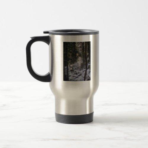Forest Sun Rays in the Snow #24 mug