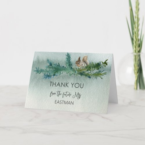 Forest Wonder Rustic Bridal Shower Thank You Card