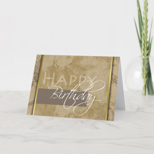 Formal Happy Birthday Greeting Card