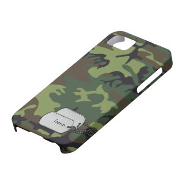 Forrest Green and Brown Military  Camouflage iPhone SE/5/5s Case