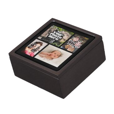 Four Photo Collage Custom Keepsake Box