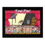 Fun Fowl Play Chicken Rapunzel Postcard