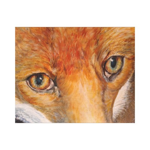 Fox by R Thomas-Leesmith Canvas Print