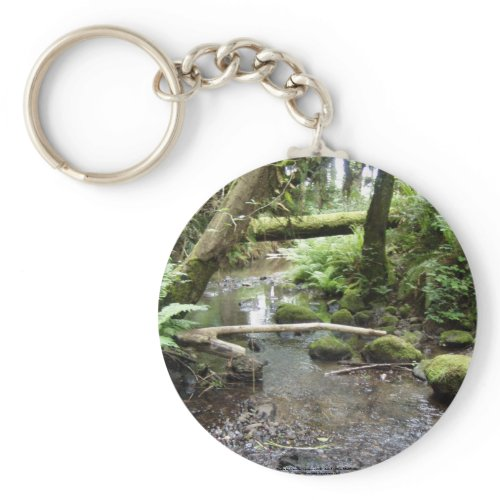 Fox Creek, Rainier, Oregon keychain