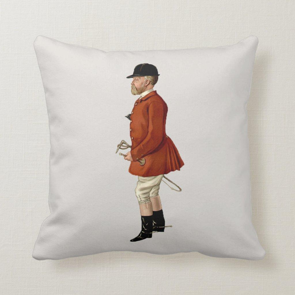 Fox Hunter Spy Print Throw Pillow | Mr Hargreaves