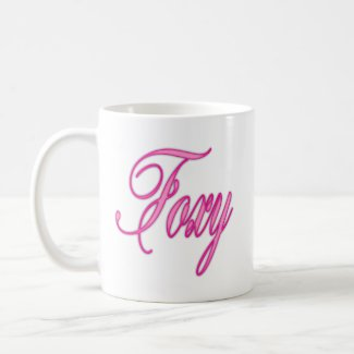 Foxy Pink Airbrush Coffee Mug
