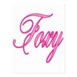 Foxy Pink Airbrush postcards