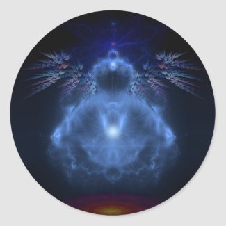 Fractal Buddha - Sticker sticker
