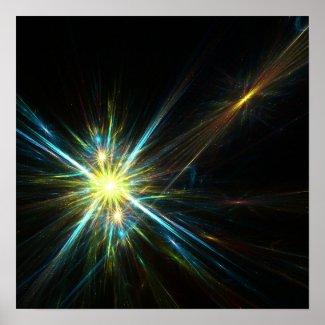 Fractal stars - Poster print