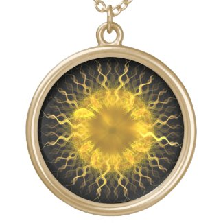 Fractal Sun Iris - Necklace necklace