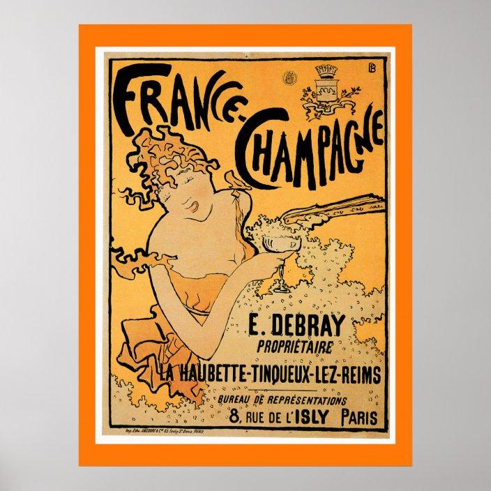 france champagne vintage poster zazzle com
