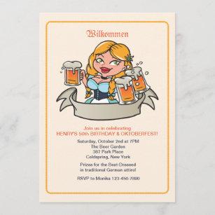 german birthday invitations zazzle