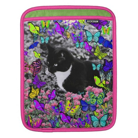Freckles in Butterflies II - Tuxedo Cat Sleeve For iPads
