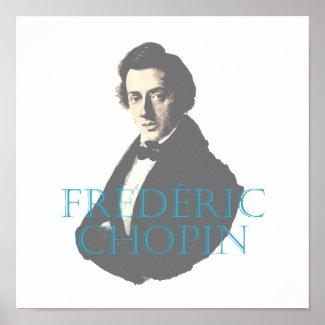 Frédéric Chopin portrait Poster