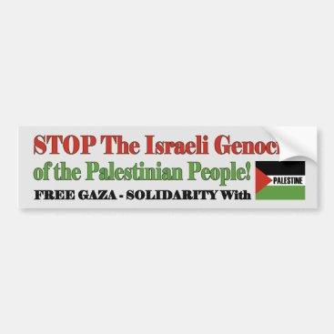 Free Gaza & Palestine Bumper Sticker