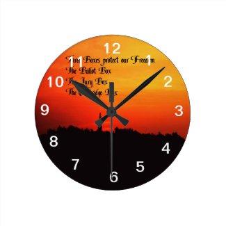 Freedom Round Wall Clocks