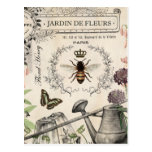 ❤️ FRENCH BEE GARDEN POSTCARD