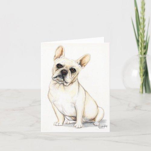French Bulldog Dog Art Note Card
