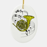 French Horn Ornament
