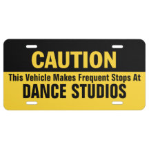 Frequent Stops at Dance Studio License Plate