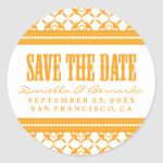 Fresh & Modern Save The Date Sticker