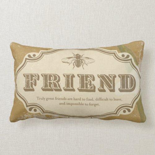 Friend: a Shabby Chic Lumbar Pillow