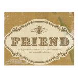 ❤️ Friend: a Shabby Chic Postcard