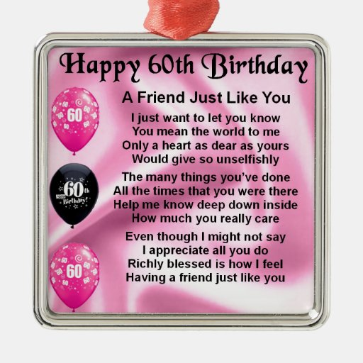 60th Birthday Poems Friends