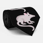 Friendly Rat Gray and Black Tie