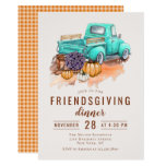 Friendsgiving Dinner Rustic Farm Truck Invitation