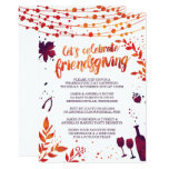 Friendsgiving Thanksgiving Dinner Invitation