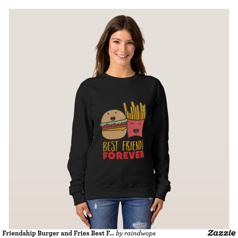 Friendship Burger and Fries Best Friends Forever T-Shirt