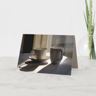 Friendship Coffee Cups Greeting Card