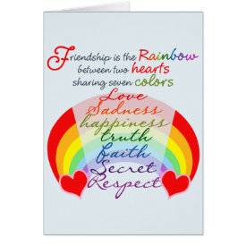 Friendship is the rainbow BFF Saying Design Card