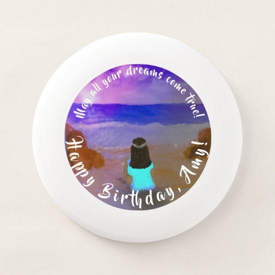 Frisbee  Dreamer! Girls Beach Birthday Painting