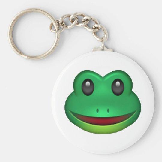 frog emoji keychain