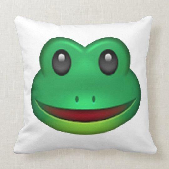 frog emoji throw pillow