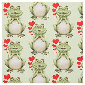 Frog Love Drawing Fabric