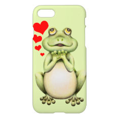 Frog Love Drawing iPhone 7 Case