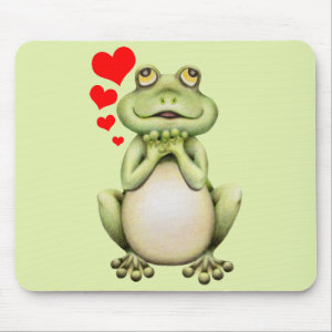 Frog Love Drawing Mouse Pad