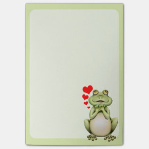 Frog Love Drawing Post-it® Notes