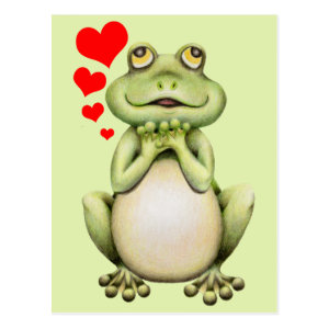 Frog Love Drawing Postcard