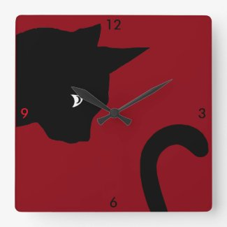 Head to Tail Cat Clock