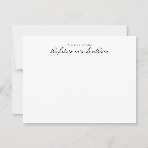 From the Future Mrs Bridal Personalized Shower Thank You Card