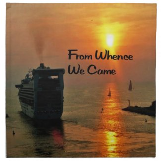 From Whence We came Cloth Napkins